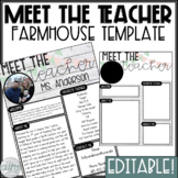 Meet the Teacher Editable Template (Farmhouse/Shiplap)