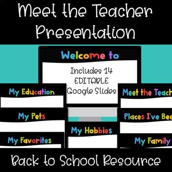 meet the teacher editable template google slides by rock your