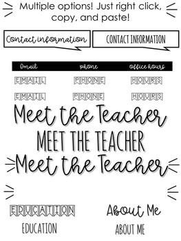 meet the teacher editable template rainbow farmhouse by sixth