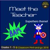 Meet the Teacher Editable Template Superhero Theme