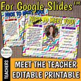 Meet the Teacher Editable Template for Google Slides™