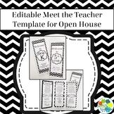 EDITABLE Meet the Teacher Template / Back to School Pamphl