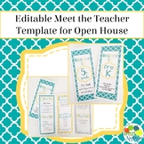 EDITABLE Meet the Teacher Template / Back to School Pamphlet in Yellow & Teal