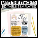 Meet the Teacher Editable Templates - Back to School