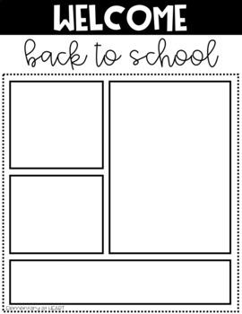 Meet the Teacher- Editable Templates- Black and White Theme