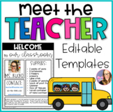 Meet the Teacher- Editable Templates- Black and White Theme