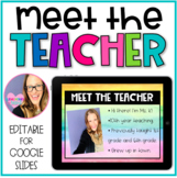 Meet the Teacher Editable Templates for GOOGLE SLIDES
