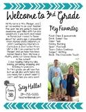 Meet the Teacher Editable Welcome Letter