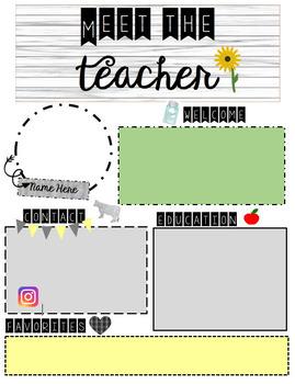 Meet the Teacher FARMHOUSE/Editable Template!