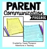Parent Communication Forms FREEBIE