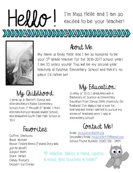Meet the Teacher FREEBIE {Editable!}