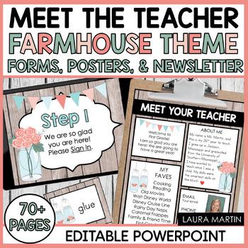 Meet the Teacher-Farmhouse Theme