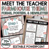 Meet the Teacher Open House EDITABLE Templates Farmhouse T