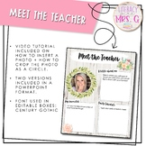Meet the Teacher | Farmhouse + Succulent