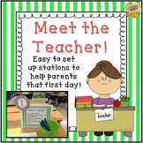 Editable Meet the Teacher - First Day of School Stations - Back to School!