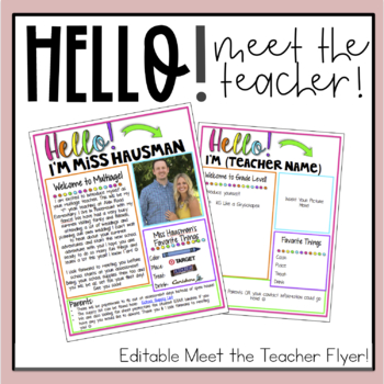 Meet the Teacher Flyer (Editable)