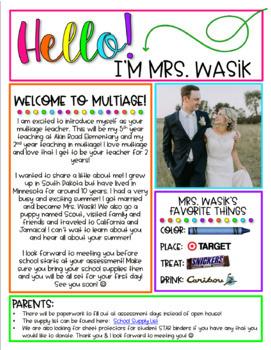 Meet the Teacher Flyer (Editable)