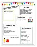 Meet the Teacher Flyer!! Editable