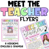 Meet the Teacher Template Editable Modern Cute and Colorful!