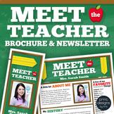Meet the Teacher Template Newsletter, Flyer, Brochure