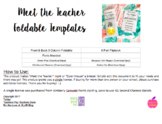 Meet the Teacher Foldable Templates