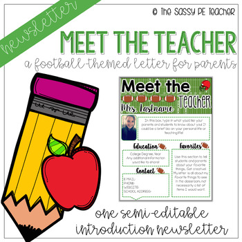 Meet the Teacher - Football Theme