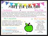 Meet the Teacher Form- Editable