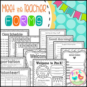 Meet the Teacher Forms