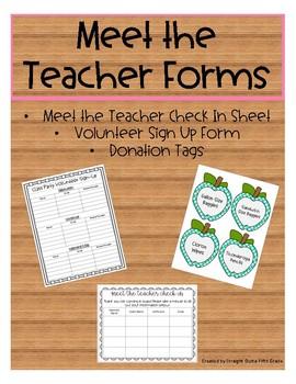 Meet the Teacher Forms