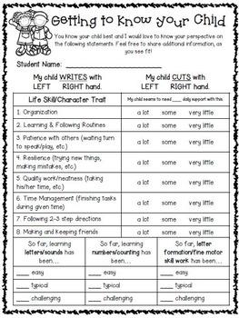 Meet the Teacher Forms - EDITABLE