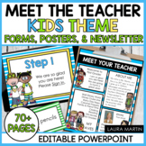 Meet the Teacher-Back to School-EDITABLE Forms and Newsletter