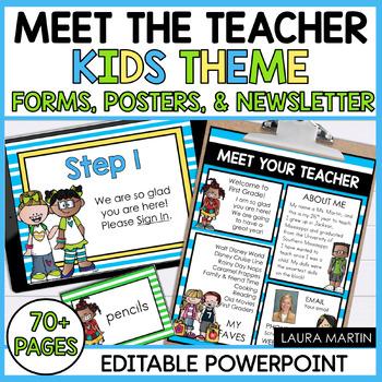 Meet the Teacher Template-EDITABLE Forms and Newsletter