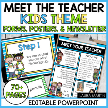 Meet the Teacher Template-EDITABLE Forms and Newsletter