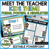 Meet the Teacher Template EDITABLE Forms and Newsletter