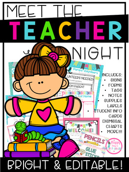 Meet the Teacher {Forms, Signs, & Editable Files}