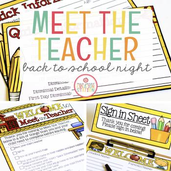Meet the Teacher {Forms and Materials}
