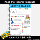 Meet the Teacher - Fully Editable