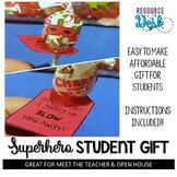 Meet the Teacher Welcome Gift: Blow Pop Superhero