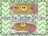 Meet the Teacher Gift Idea - Pencil Poem