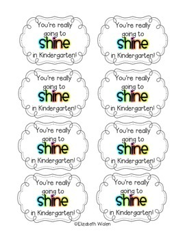 Meet the Teacher Gift Tags: You're going to shine (perfect for glow sticks)