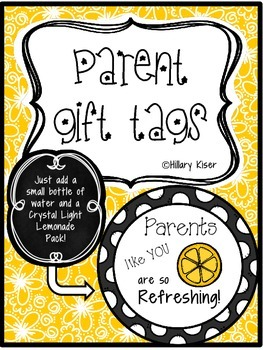 Meet the Teacher Gift Tags for Parents!