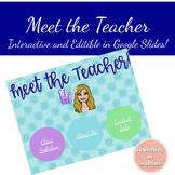 Meet the Teacher - Google Slides