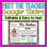 Meet the Teacher Google Slides-Editable Template (Distance