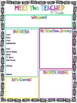 Meet the Teacher- Handout