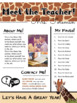 Meet the Teacher Handout | Back to School | Template | EDITABLE | Giraffe Safari