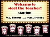 Meet the Teacher Hollywood theme flipchart