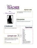 Meet the Teacher Info Page