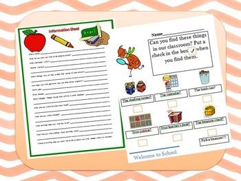 Meet the Teacher Info. Sheet