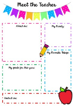 Meet the Teacher Information Sheet - US version