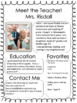 Meet the Teacher Introduction Handout!